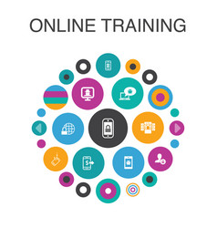 Online training infographic circle concept smart vector