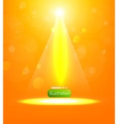 Orange spotlight background vector
