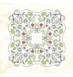 Ornamental mandala background vector image