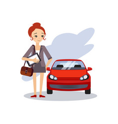 parking at work daily routine activities of women vector image