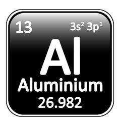 Periodic table element aluminium icon vector image