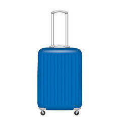 plastic travel bag icon realistic style vector image