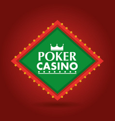 poker casino banner shining billboard retro vector image