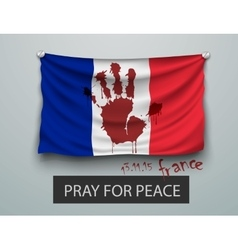 Pray for Paris terrorism attack flag paris vector