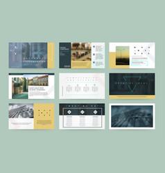 Presentation templates business template vector