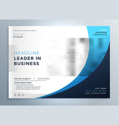 Professional blue business brochure template vector