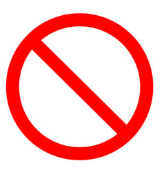 prohibition symbol prohibition sign prohibition vector image