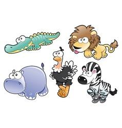 Savannah animal family vector