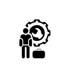 Service man icon flat design vector