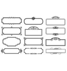 set decorative vintage frames vector image