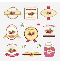 Set of label design vector image