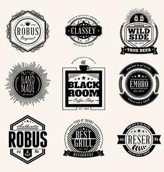 Set of Retro Vintage Badges and Logotypes design vector