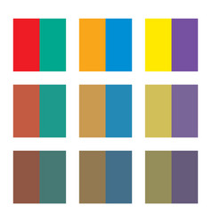 Six basic primary colors and complementary colors vector