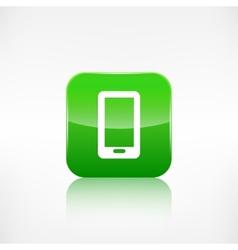 Smartphone Icon Cellphone Application button vector image