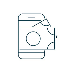 smartphone with money on screen vector image