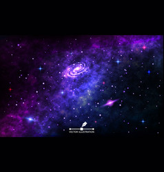 Space background cosmic backdrop with nebula vector