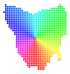 Spectral pixel tasmania island map vector