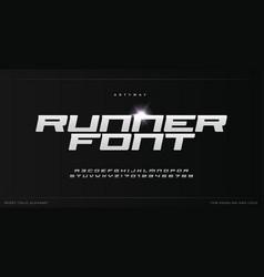 Sport style alphabet for modern speed logo vector
