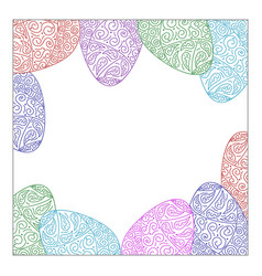 Square frame eggs vector