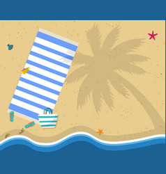 Summer beach vacation holidays poster top view vector