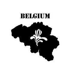 Symbol of belgium and map vector