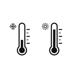 temperature symbol set three thermometer showing vector image