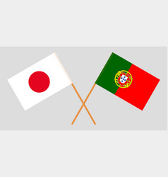 The portuguese and japanese flags vector