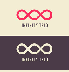 the shows infinity trio sign vector image