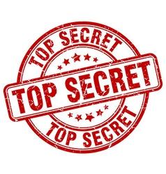 Top secret red grunge round vintage rubber stamp vector