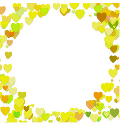 Trendy random heart background template design vector