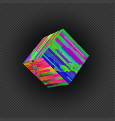 vibrant abstract glitch design element vector image