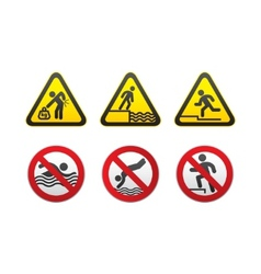 Warning hazard and prohibited signs vector