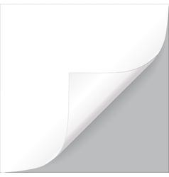 white paper corner vector image
