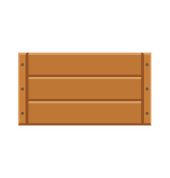 Wooden crate for storage isolated on white vector