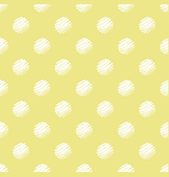 yellow and white polka dot seamless pattern vector image