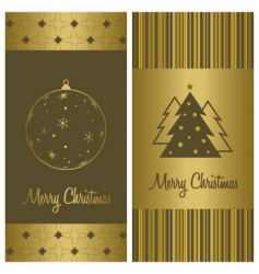 Christmas card background set vector image