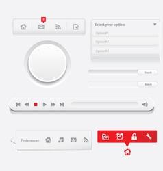 clean website vector image