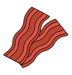 delicious bacon isolated icon vector image