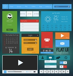 flat web design elements 4 vector image