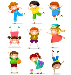 kids collection vector image