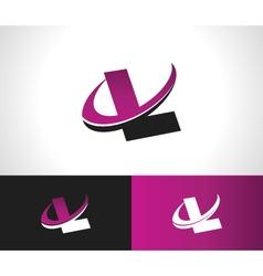Swoosh Alphabet Icon L vector image vector image