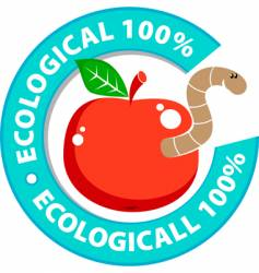 ecologically pure product vector image vector image