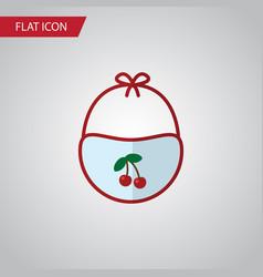 isolated bib flat icon pinafore element vector image