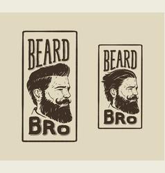 beard bro vector image vector image