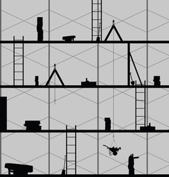 construction place art on grey vector image vector image
