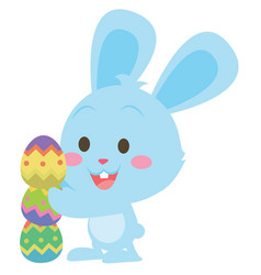easter egg with bunny character vector image vector image