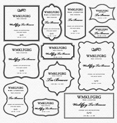 Graphic frames elements vector image