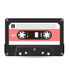 retro audio cassette plastic audio vector image