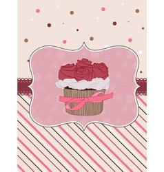 beautiful cupcake background vector image