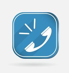 call Color square icon vector image